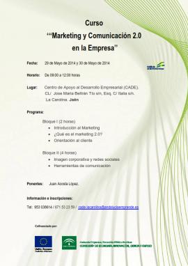 Curso Marketing y comunicación 2.0 en la Empresa
