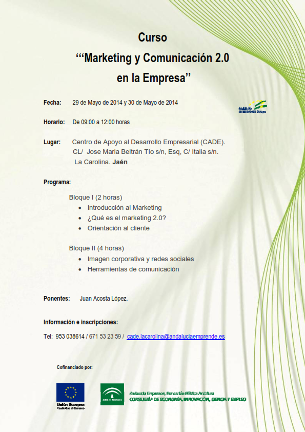 Curso Marketing y comunicación 2.0 en la Empresa