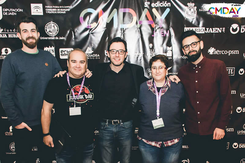 Imagen de los ponentes en el CMDAY 2017, Congreso de Marketing en Jaén