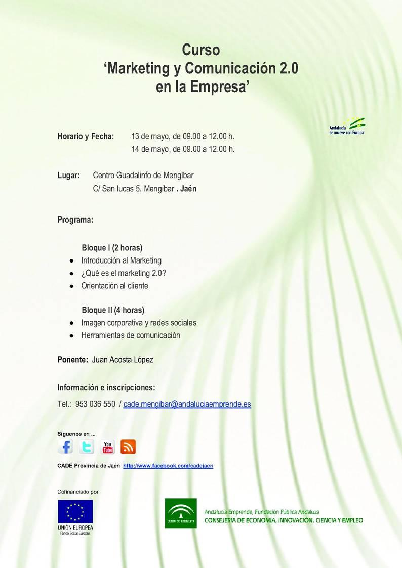 Curso: Marketing y comunicación 2.0 para empresarios